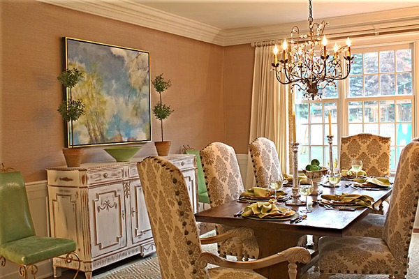 Darien Family Home dining room