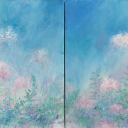 Bragg Spirit Of Spring Diptych 30 x 30 each Acrylic on Canvas