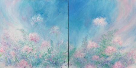 Bragg Spirit Of Spring Diptych 30 x 30 each Acrylic on Canvas