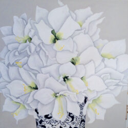 Reinhardt Wellington-Amaryllis in a Blue and White Pot