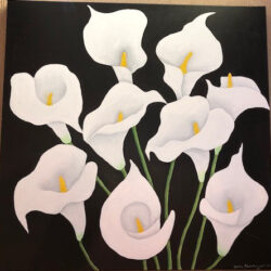 Reinhardt Wellington-Calla Lillies on Black