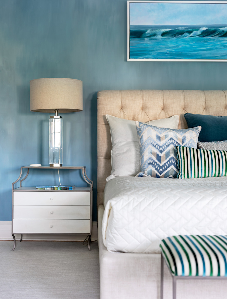 Bedroom Larchmont NY Sandra Morgan Interiors and Art Prive