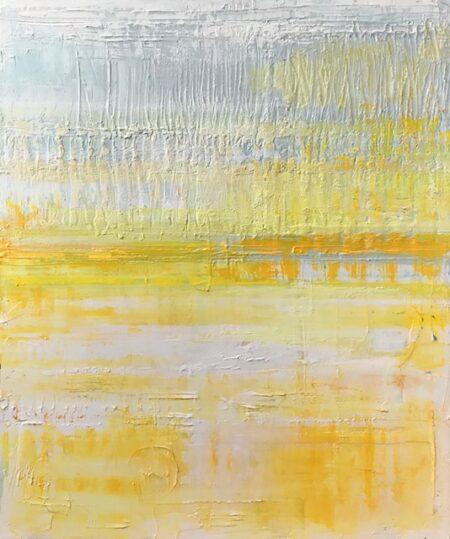 Golden Hour by Barbara Sussberg oil on canvas palette knife