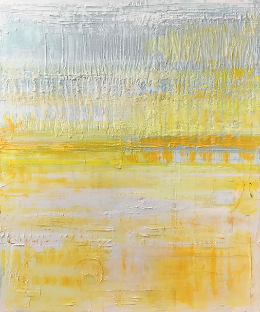 Golden Hour 36x30 by Barbara Sussberg oil on canvas palette knife