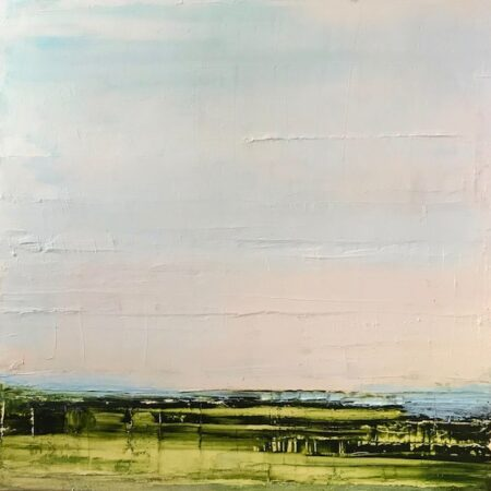 Green Acres By Barbara Sussberg Oil On Canvas with Palette knife