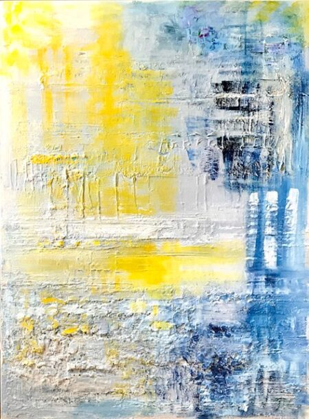 Sun and Sky by Barbara Sussberg Oil on Canvas with palette knife