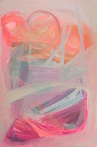Ponytails_I_Re_Scheidt_Acrylic_Gouache_on_Canvas