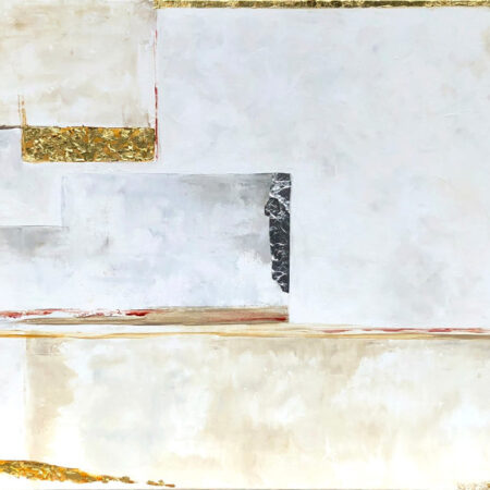 BUILDING_BLOCKS__-_Oil_on_Canvas_with_Gold_Leaf_Silver_Leaf_Contemporary_Oil_Painting_by_Victoria_Brooks_Melly