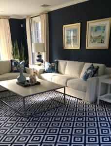 family room blue