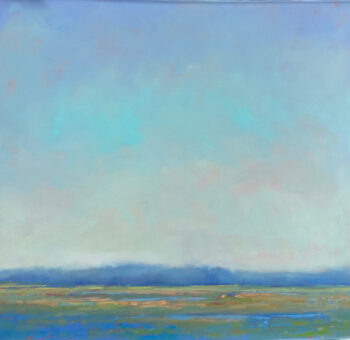 McCarthy Blue Marsh 36 sq oil on Canvas