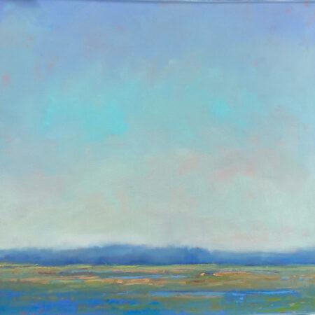 McCarthy Blue Marsh 36 sq oil on Canvas