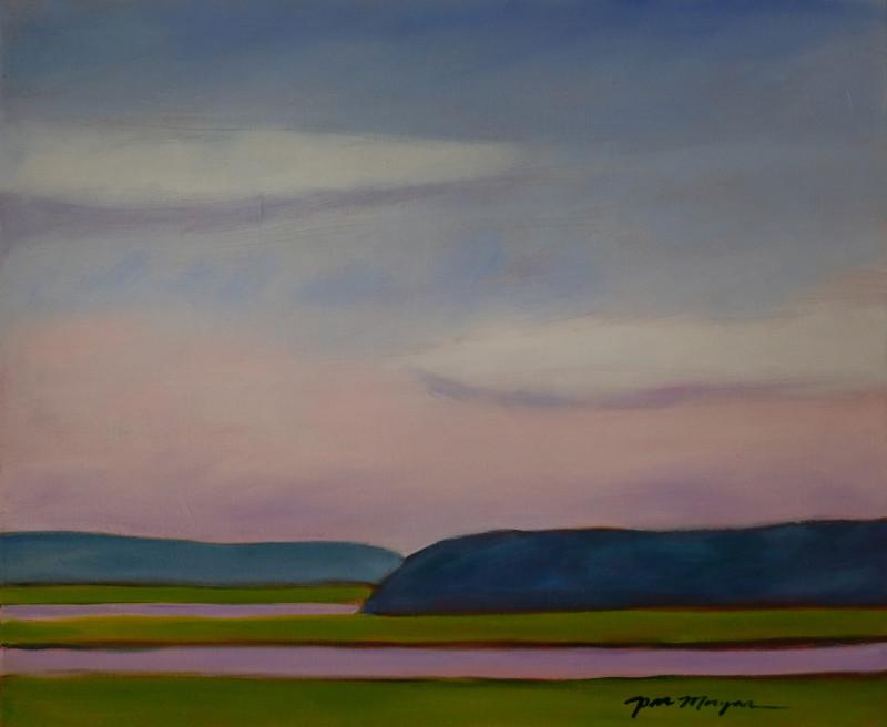 Morgan_Paula_10_Jones River Marsh 24 x 24 oil on canvas framed