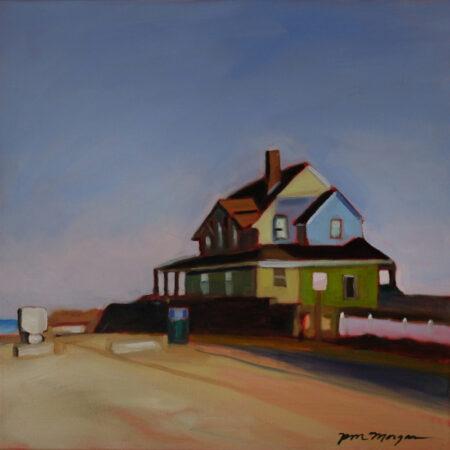 Morgan_Paula_11_Hummarock House 20 x 20 oil on Canvas Framed