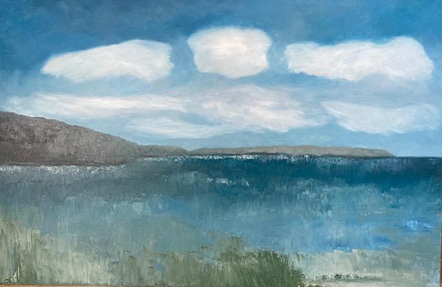 Elasah Schaff Smith The Bay Oil on Canvas
