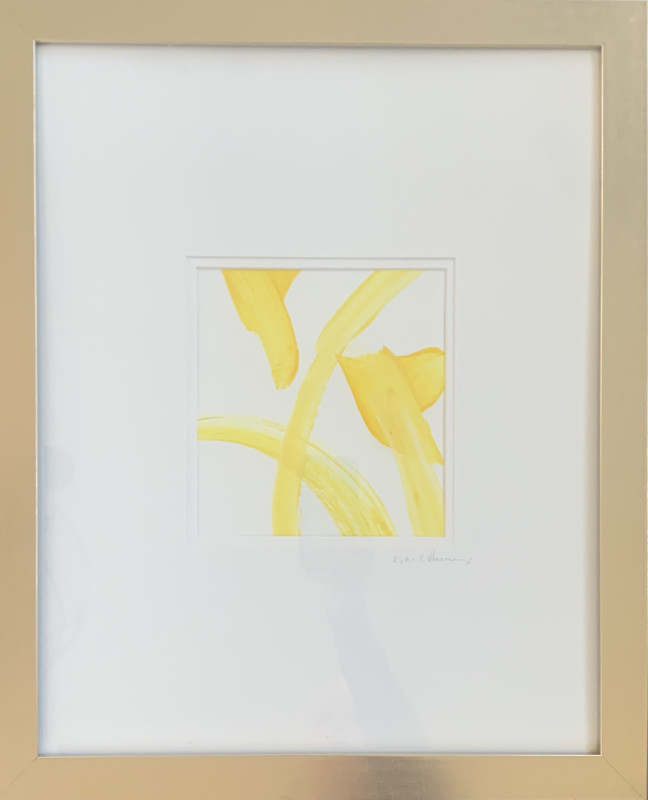 Re Scheidt Sunshine III Acrylic + Gouache on awatercolor paper Framed 20x16