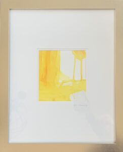 Re Scheidt Sunshine IV Acrylic + Goauche on watercolo paper framed 20 x 16