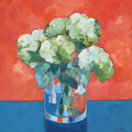 Hydrangeas Blue + Orange Beth Munro