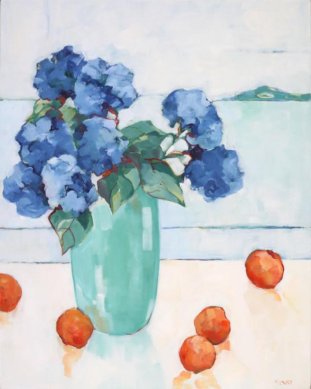 Hydrangeas by the Sea Beth Munro