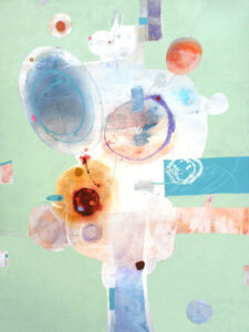Penny Putnam And A Rabbit Popped Out Of The Hat Mixed Media on Canvas 48 x 36 Mixed on Canvas